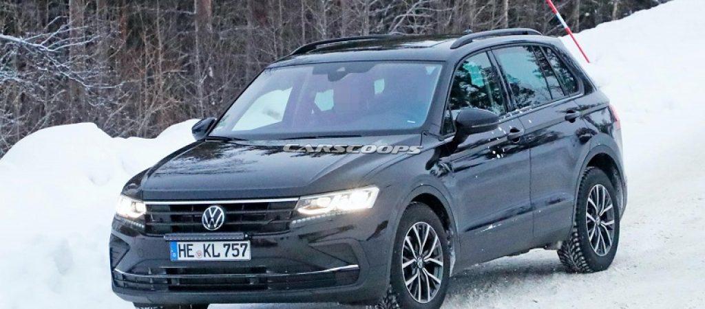 Volkswagen Tiguan 2021 года запечатлели во время испытаний